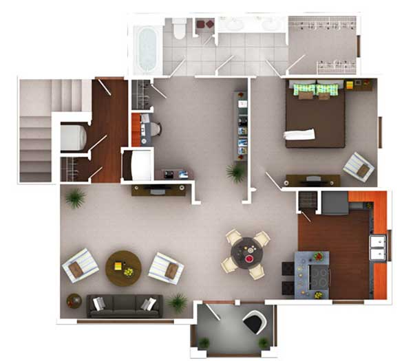 968 sq. ft. Ag10.1 floor plan