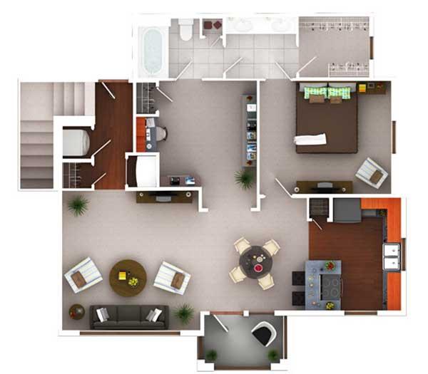 968 sq. ft. Ag10.1 floor plan