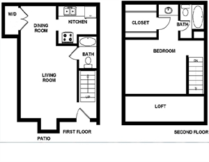 836 sq. ft. Atherstone floor plan