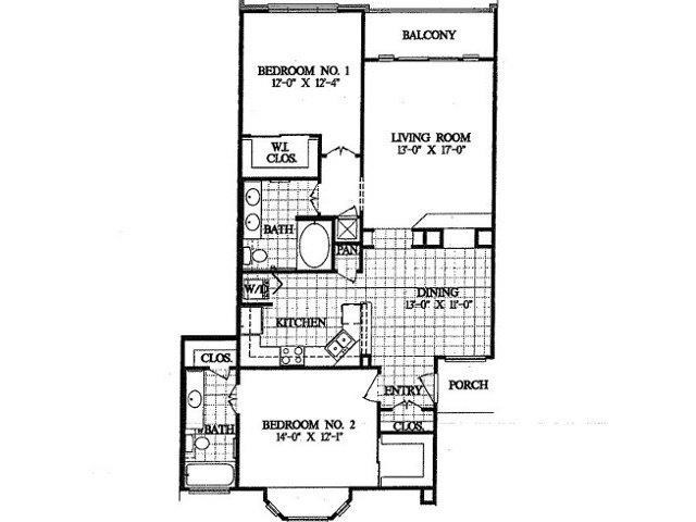 1,219 sq. ft. B4 floor plan