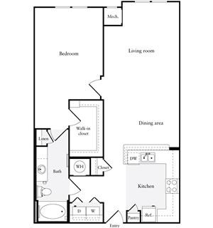 989 sq. ft. A3 floor plan