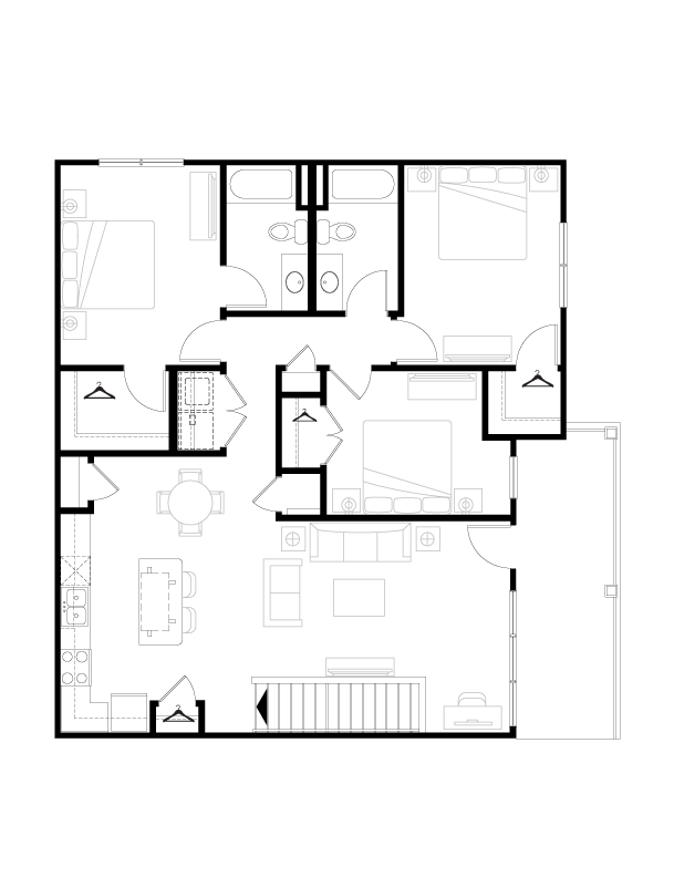 1,431 sq. ft. floor plan