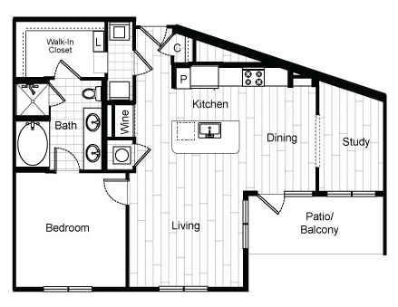 947 sq. ft. A10 floor plan