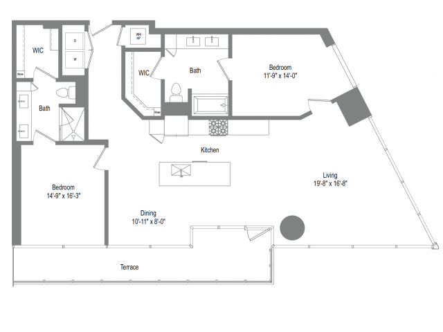 1,446 sq. ft. B8 floor plan