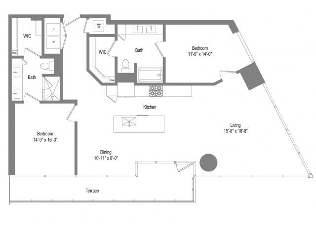 1,446 sq. ft. B8 floor plan