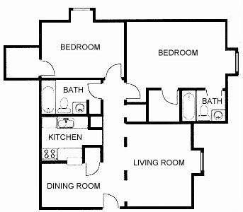 983 sq. ft. floor plan