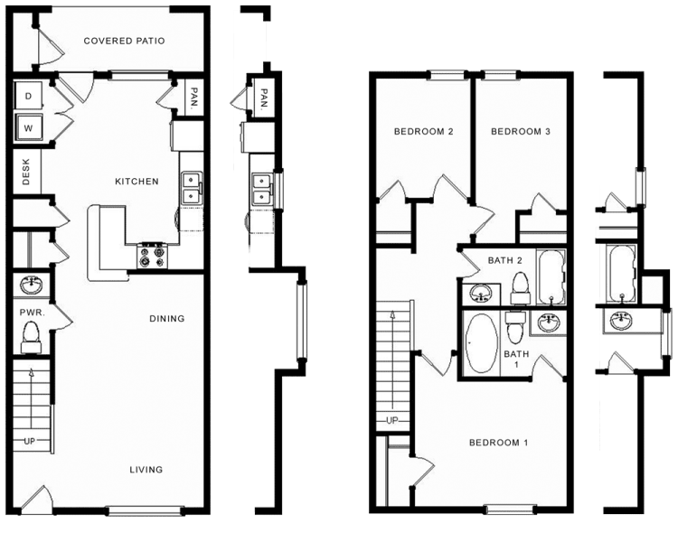 1,170 sq. ft. Angus/60% floor plan