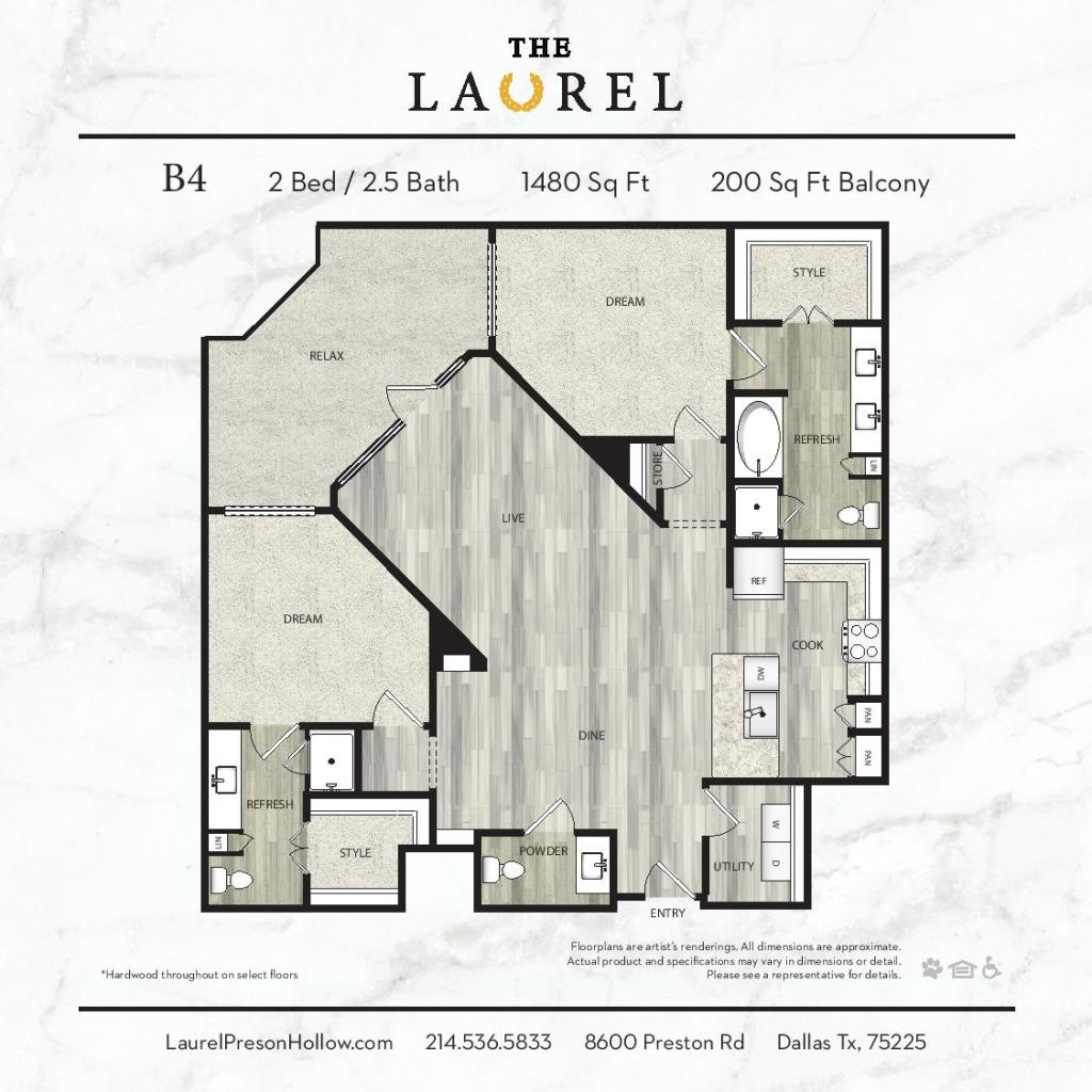 1,480 sq. ft. A6 floor plan