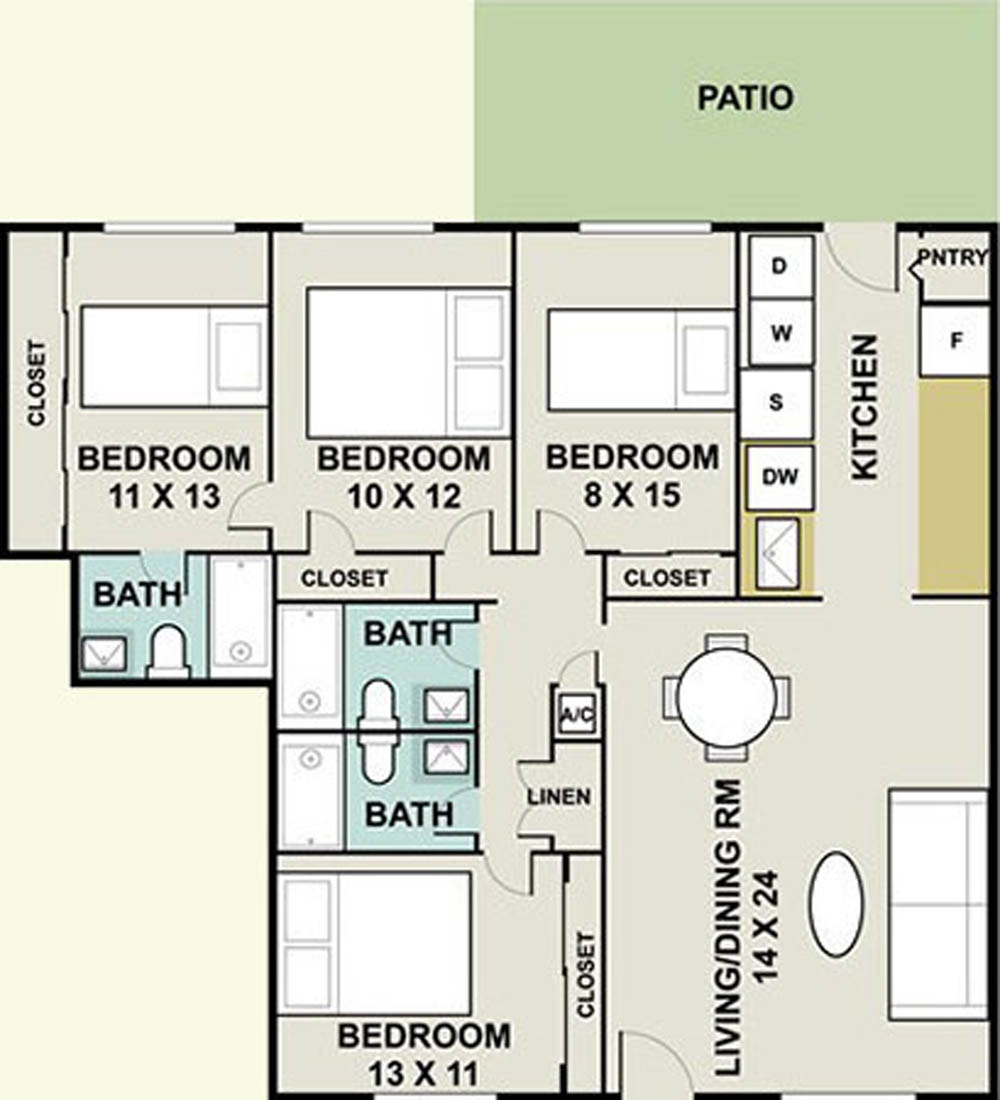 1,600 sq. ft. Allstar/Ph I floor plan