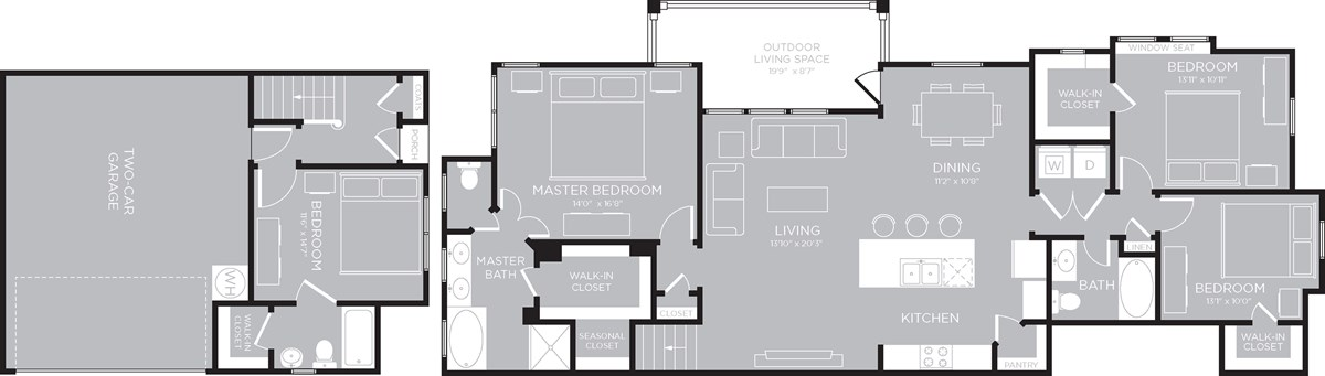 1,917 sq. ft. Bullock floor plan