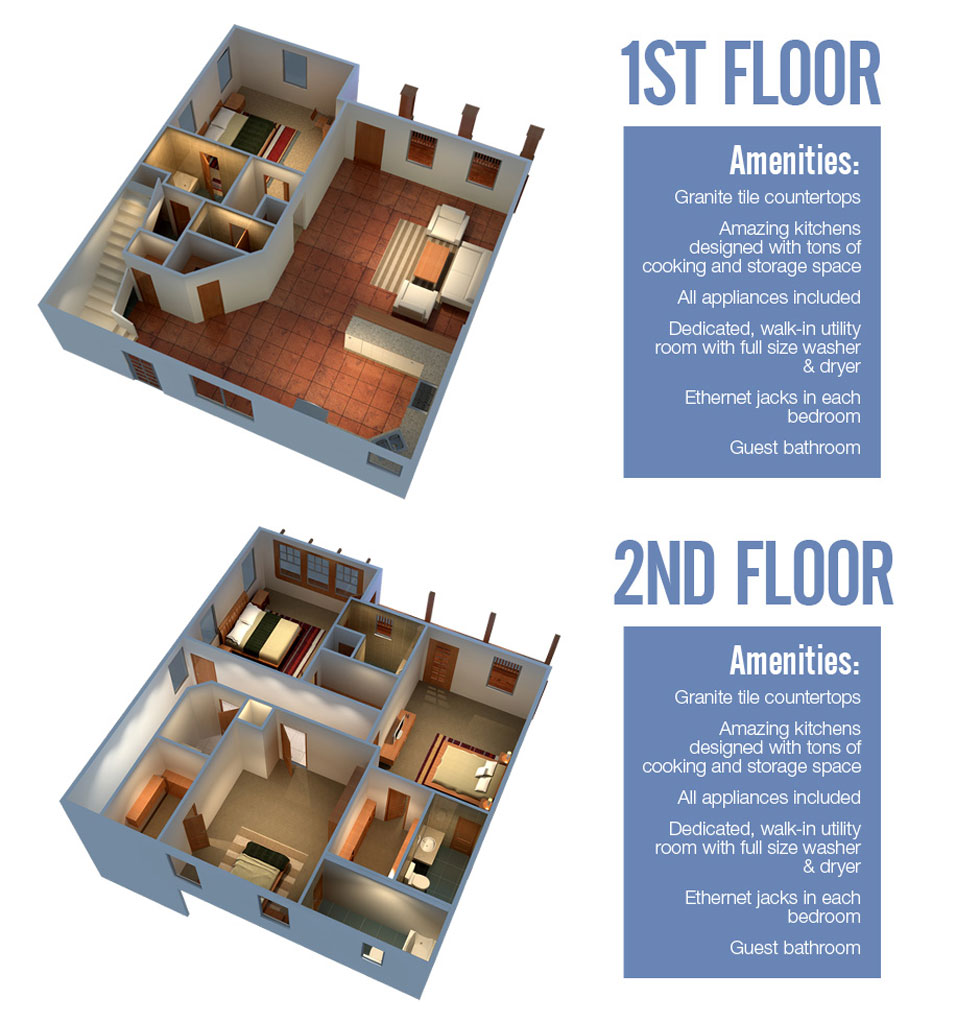 2,600 sq. ft. Boulder floor plan