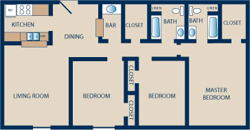 1,305 sq. ft. G floor plan