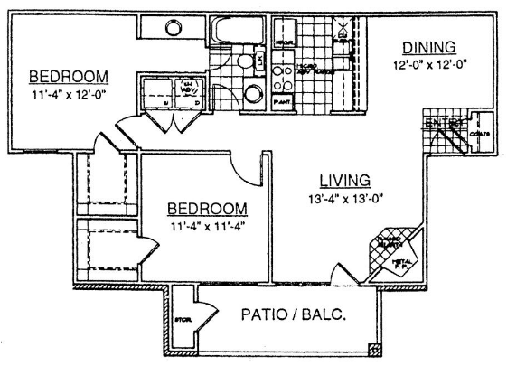 922 sq. ft. Serenity floor plan