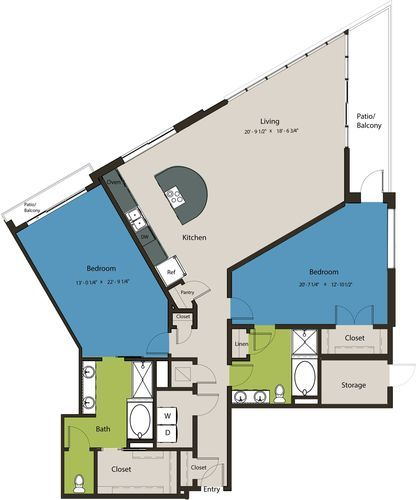 1,915 sq. ft. B2 floor plan