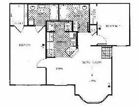 973 sq. ft. Cambridge floor plan