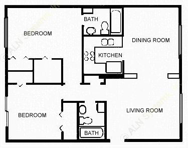 925 sq. ft. PROFSNAL floor plan