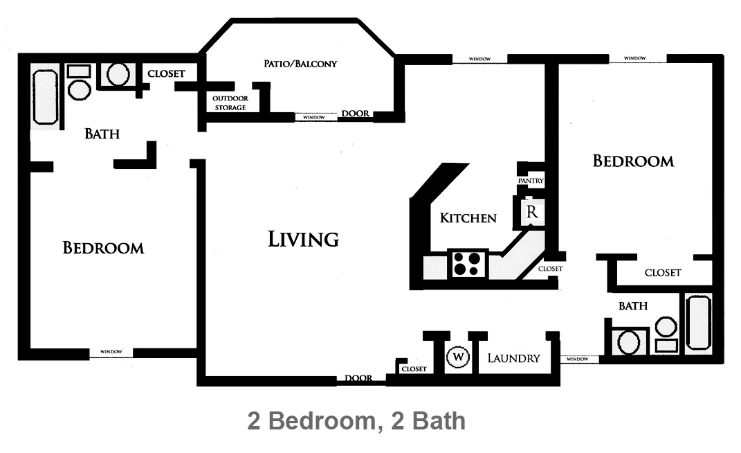 1,190 sq. ft. Iris floor plan