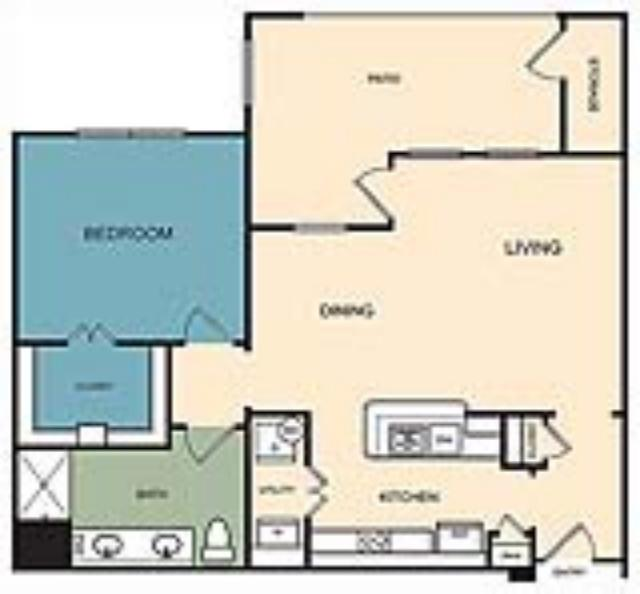 850 sq. ft. Steamboat floor plan