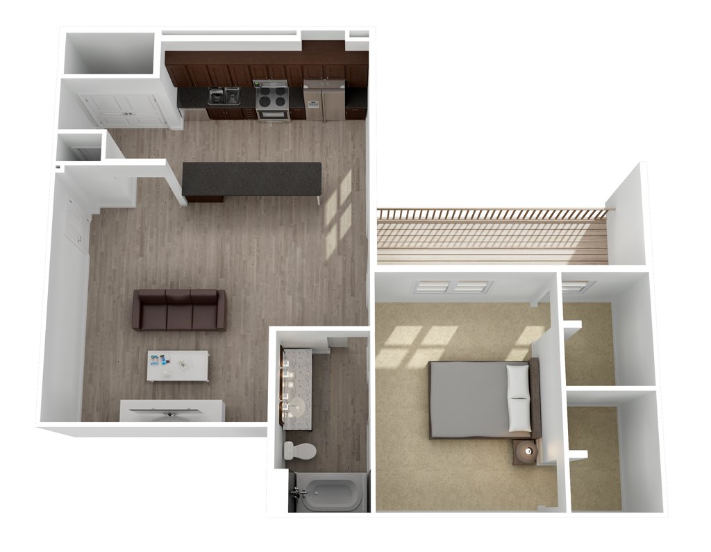 902 sq. ft. Mercedes floor plan