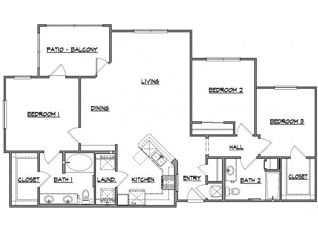 1,512 sq. ft. Olympus floor plan