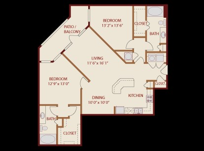 1,248 sq. ft. City Limits floor plan