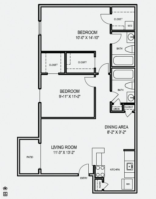 900 sq. ft. floor plan