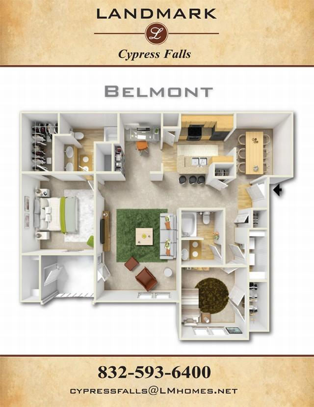 1,282 sq. ft. Belmont floor plan