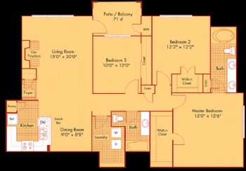 1,436 sq. ft. C11 floor plan