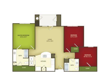 1,331 sq. ft. Bequest 30% floor plan
