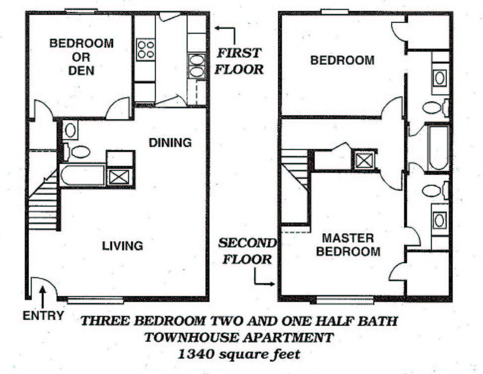 1,340 sq. ft. floor plan