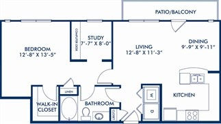 880 sq. ft. AS1 floor plan