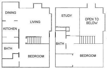 1,226 sq. ft. C1 floor plan