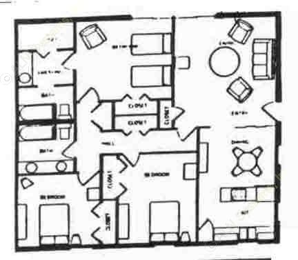 1,325 sq. ft. floor plan