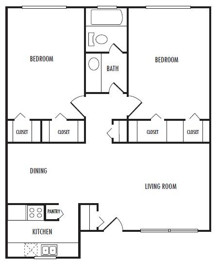 960 sq. ft. G floor plan