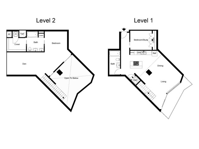 1,502 sq. ft. Loft 1K floor plan