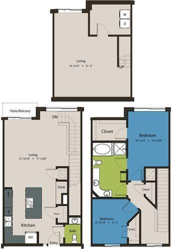 1,732 sq. ft. TSK floor plan