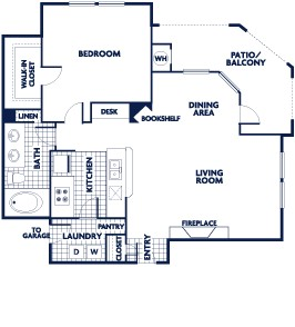 813 sq. ft. A4 floor plan