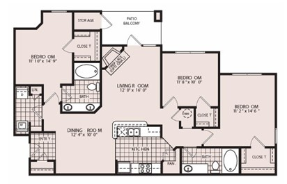 1,415 sq. ft. Windsor floor plan