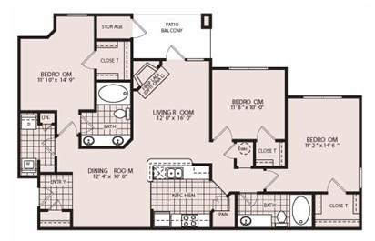 1,415 sq. ft. Windsor floor plan
