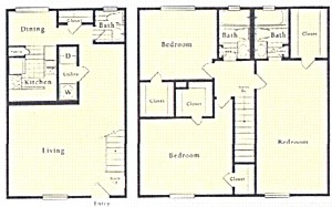 1,380 sq. ft. B5 floor plan