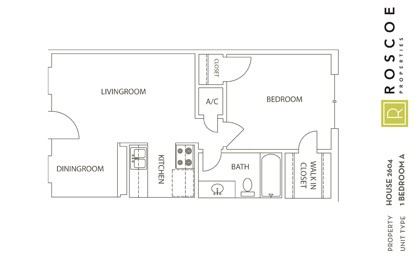 515 sq. ft. A1 floor plan