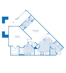 819 sq. ft. Cayman floor plan
