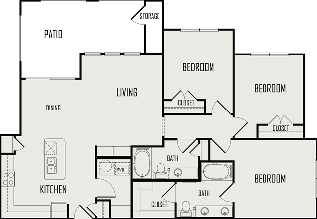 1,275 sq. ft. Llano floor plan