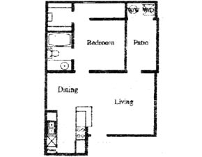 552 sq. ft. CD floor plan