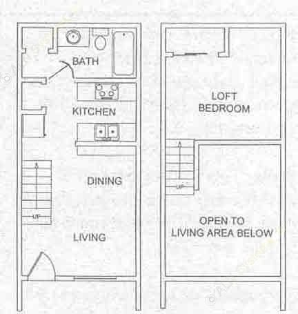 510 sq. ft. floor plan