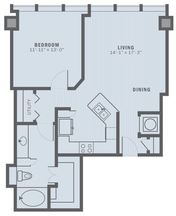 804 sq. ft. A2A floor plan