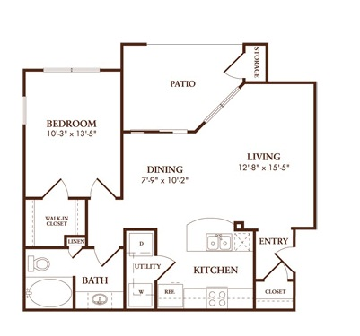 731 sq. ft. A2/ALMAFI floor plan