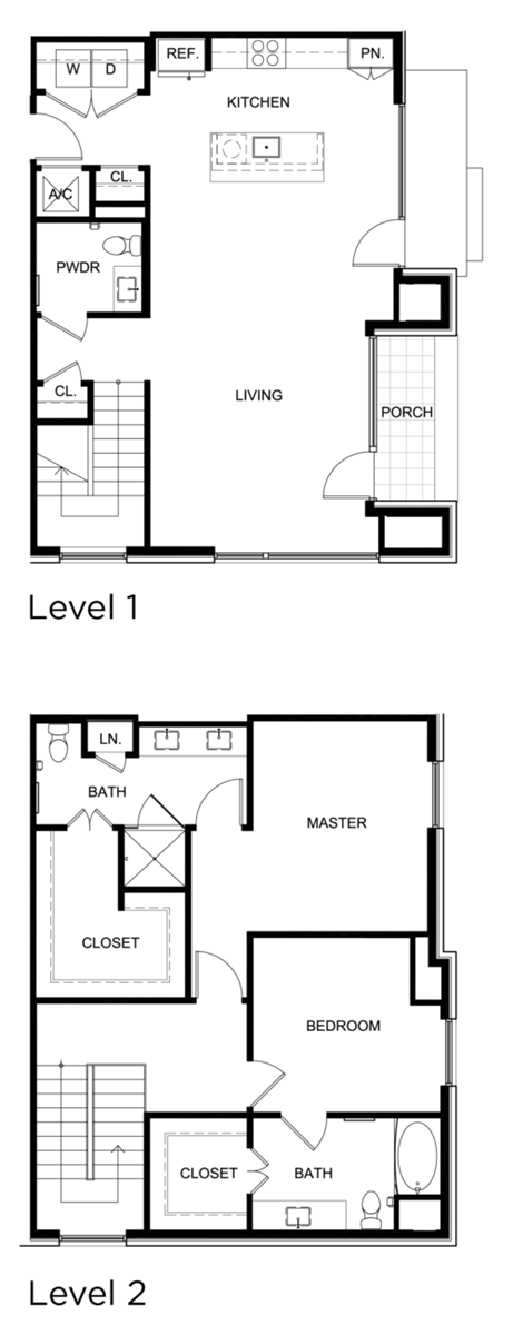 1,733 sq. ft. C8 floor plan