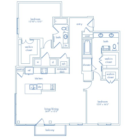1,618 sq. ft. CEZANNE TWO floor plan