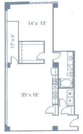 1,152 sq. ft. A14 floor plan